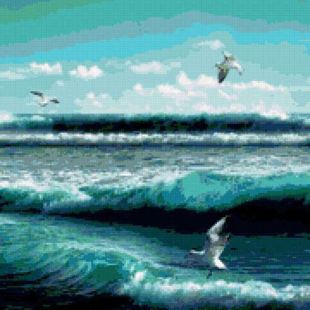Чайки над морем, предпросмотр