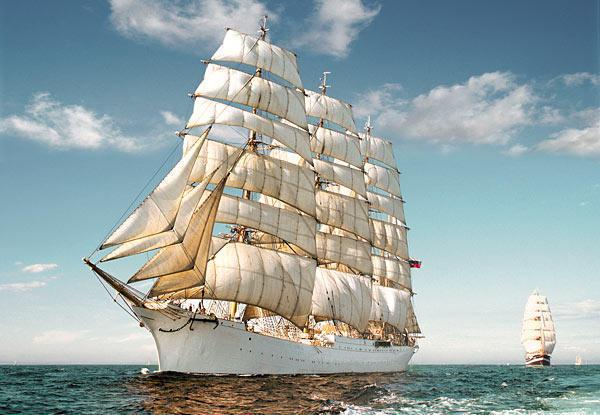 Парусник, море, корабль