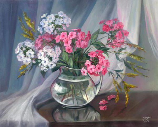 Флоксы, букет, цветы