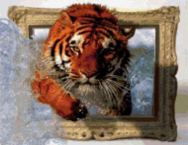 Тигр.Прыжок, тигр, тигры,