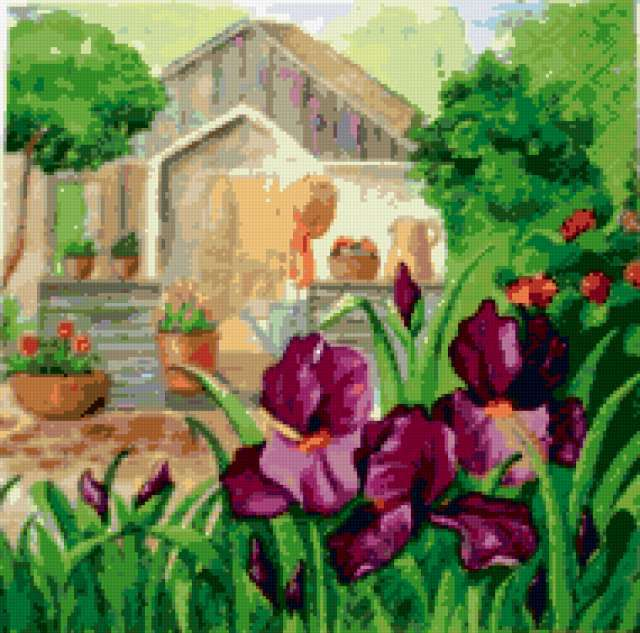 К схеме вышивки «Дачный домик»