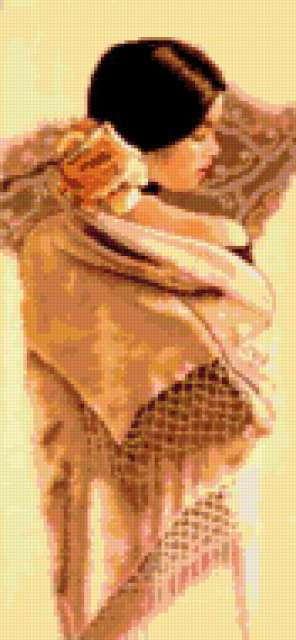 Белая шаль, предпросмотр