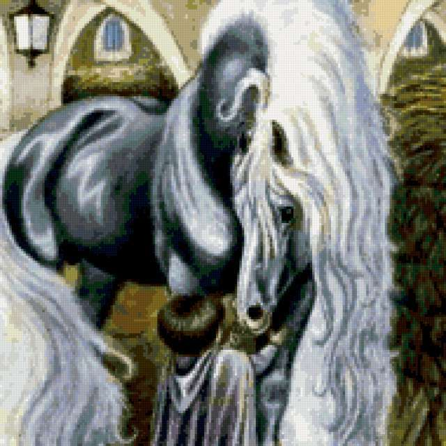 дети, лошадь, конь, люди