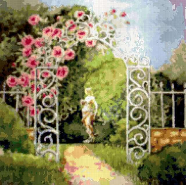 Арка в сад, предпросмотр