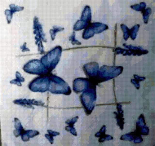 Голубые бабочки, предпросмотр
