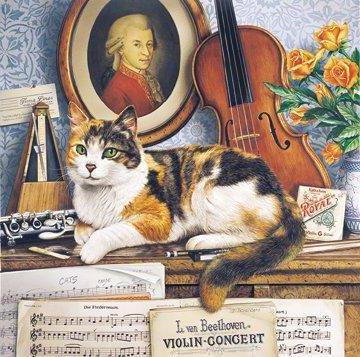 Музыкальный кот, животные