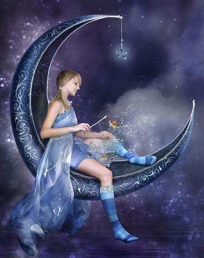 Фея на Луне, оригинал