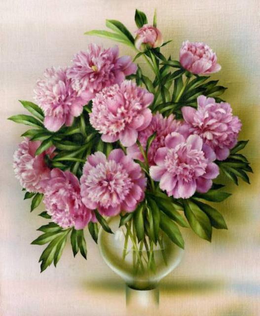 Пионы в вазе, цветы, букет,