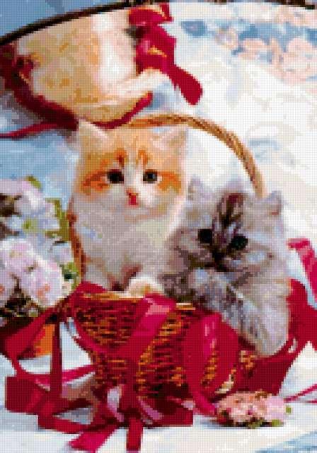 Котята в корзине, предпросмотр