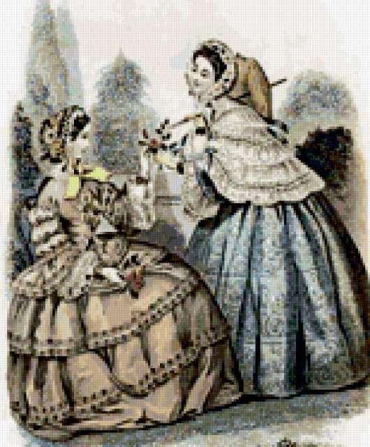 Дамы 19 века, предпросмотр