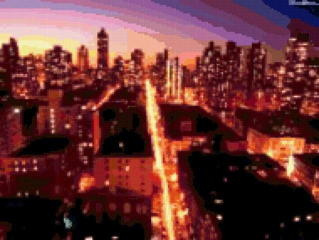 Ночной нью-йорк, города