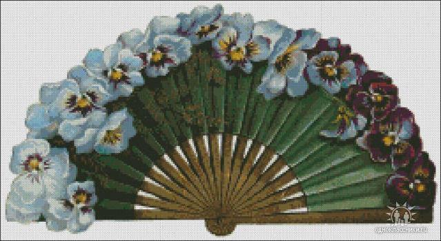 Схемы для вышивки крестом веер