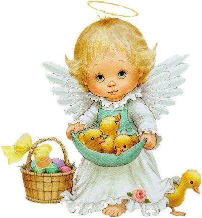 Ангел с пасхальными цыплятами,