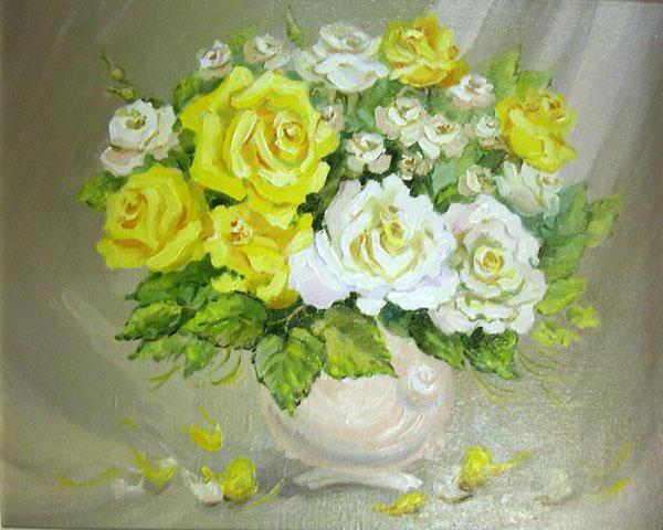 Желтые розы, розы, букет,