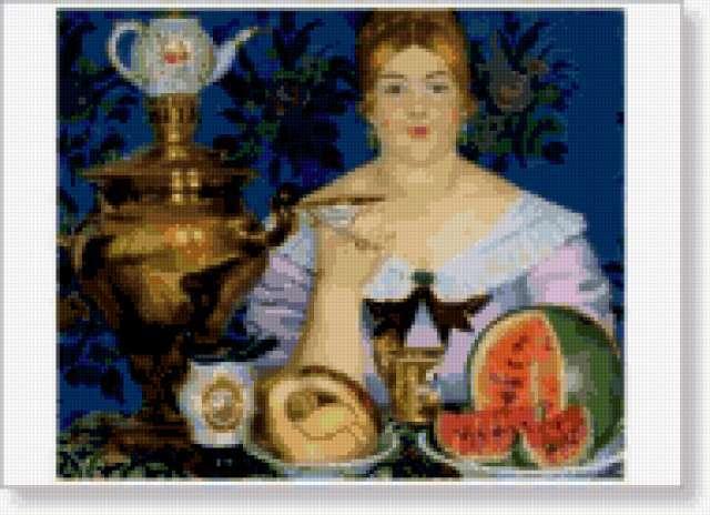 Купчиха за чаем, картина