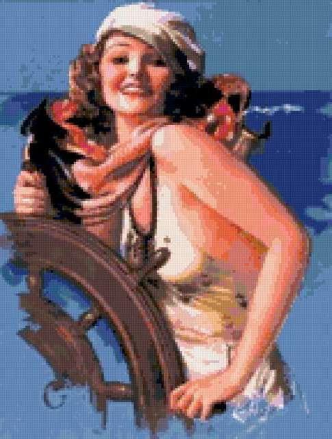 Морячка 40-х, девушка,