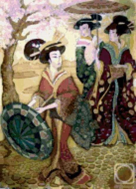 Японки с зонтами, предпросмотр