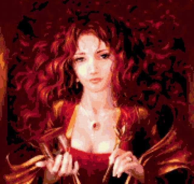Рыжая красавица, предпросмотр