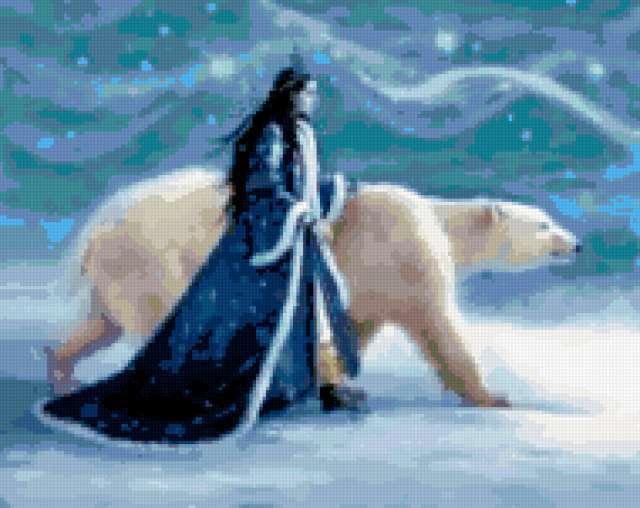 Девушка с белым медведем,