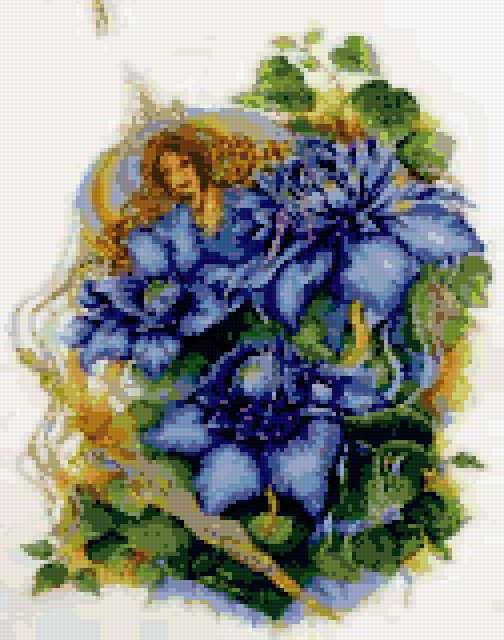Цветочная фея Клематис