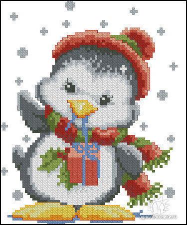 Пингвин, пингвин, птица, снег