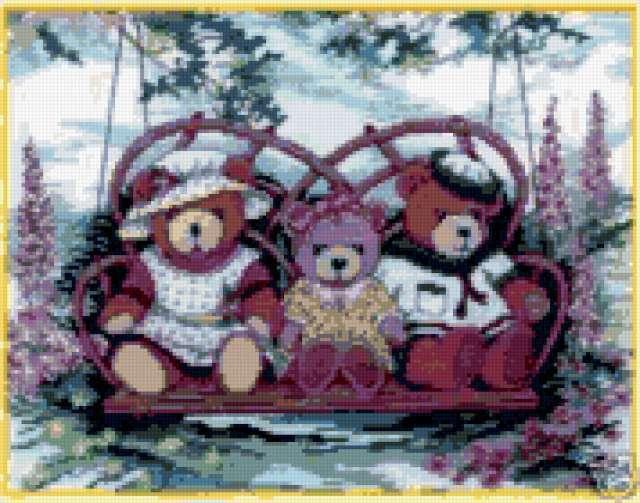 Медвежья семья, мишки, мишка,