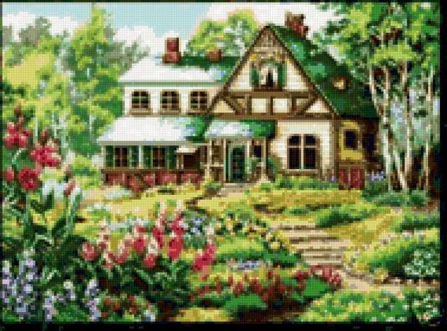 Уютный домик, домик