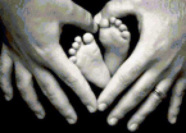 Руки и малыш, предпросмотр