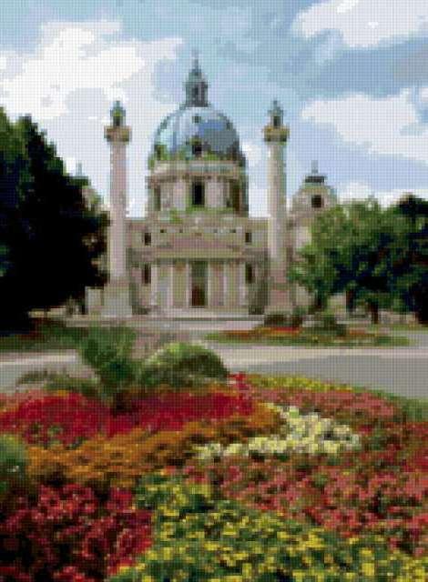 Вена., замок, цветы, города