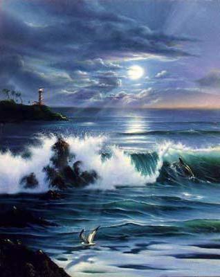 Море. Маяк. Волны, море, волны