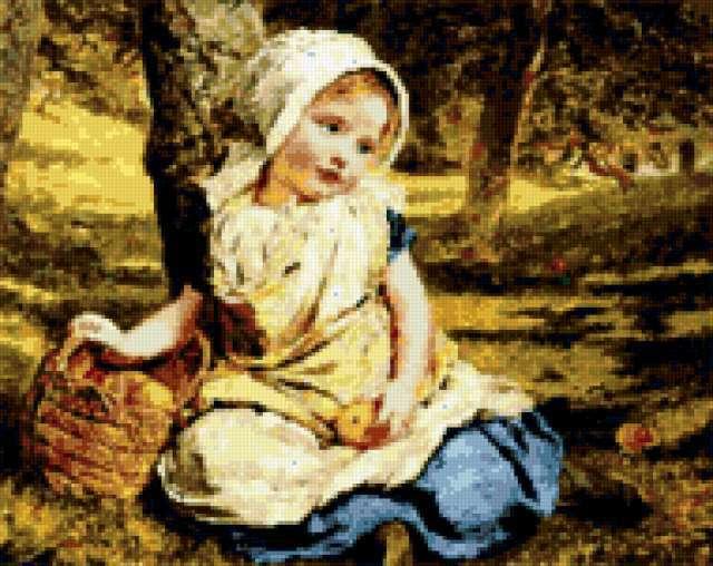 Девочка в лесу, предпросмотр