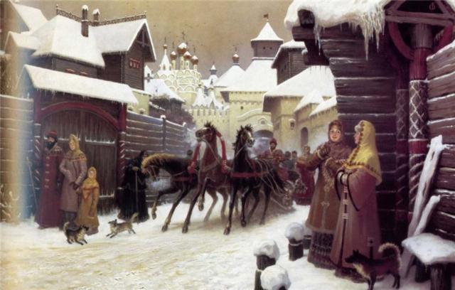 Городская улица XVII века,