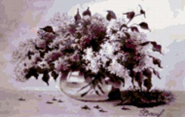 Сирень в вазе, предпросмотр