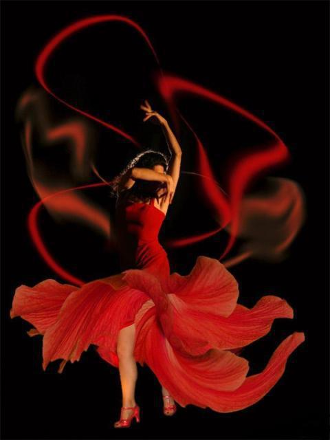 Фламенко, танец, девушка