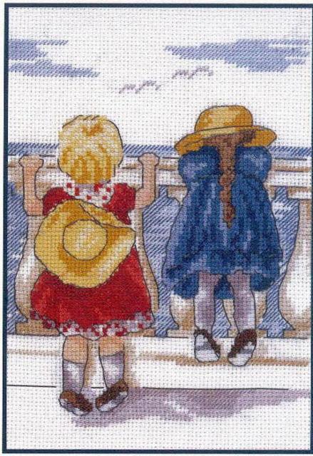 Вышивка крестом дети фото