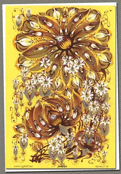 Цветочный орнамент, цветы