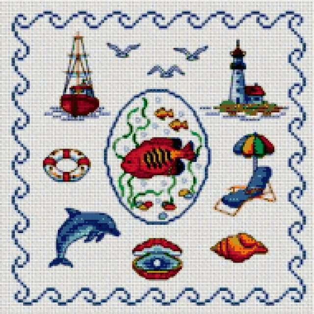 Морская тема, море, чайки,
