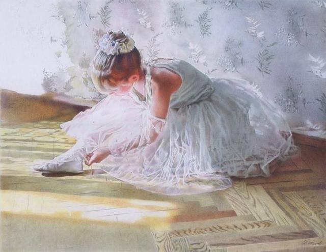 Юная балерина, балет, ребёнок,