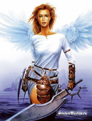 Ангел-воитель, оригинал