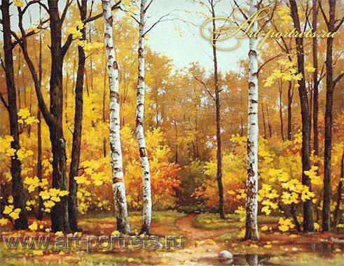 Золотая осень, природа, вода,