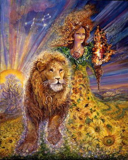 Вышивка лев зодиака