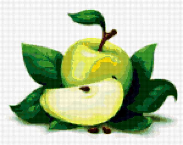 Зеленое яблоко, предпросмотр