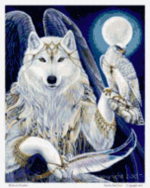 Белый волк, волк, зверь,