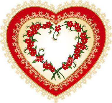 "Салфетка ""Сердце из цветов"","