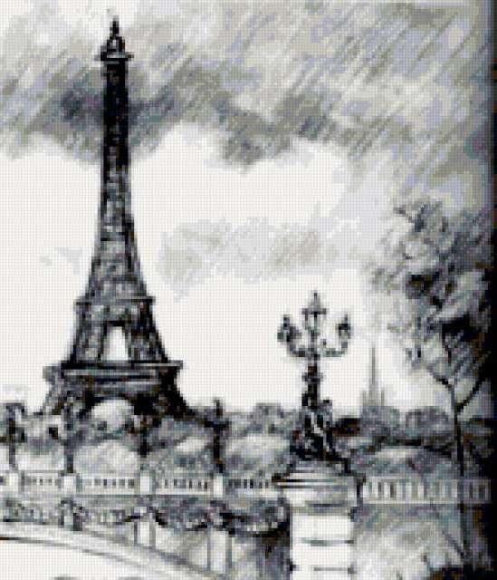 Париж, графика, предпросмотр