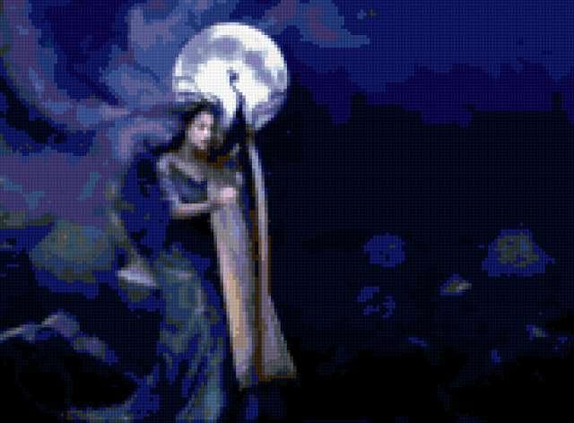 Девушка-луна, луна, девушка,