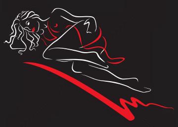 Девушка на силует девушку