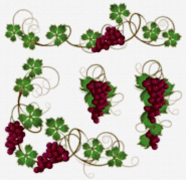 Грозди винограда, предпросмотр