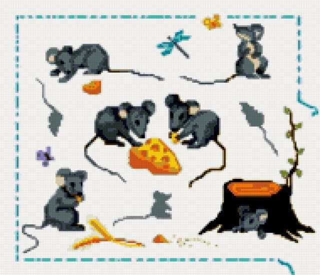 Забавные мышки, предпросмотр