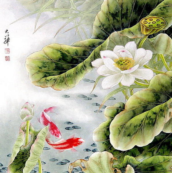 Золотые рыбки, восток, япония,